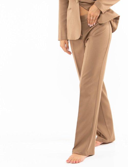 Pantalone Vougue regular - Marrone
