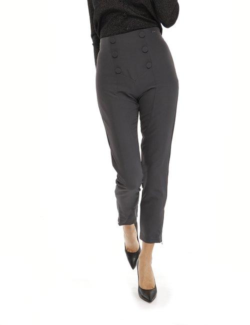 Pantalone Yes Zee con bottoni - Grigio