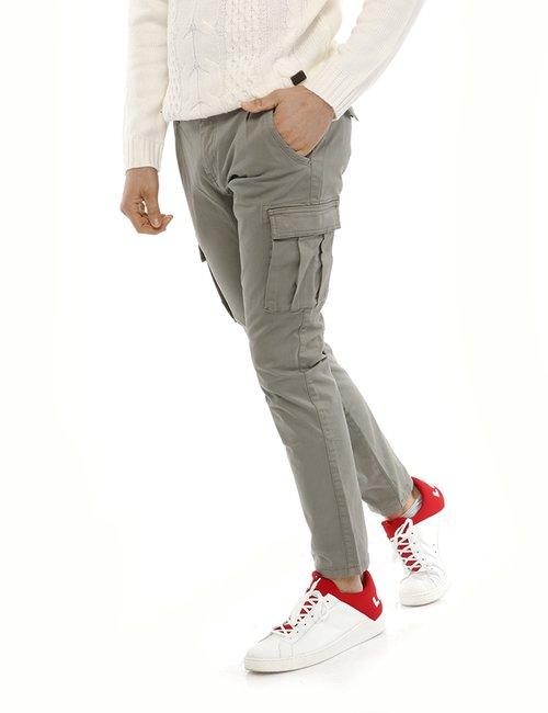 Jeans Yes Zee cargo - Grigio
