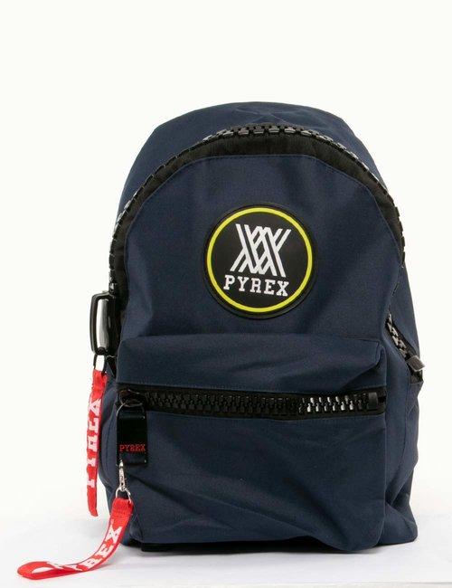 Zaino Pyrex con maxi zip - Blu