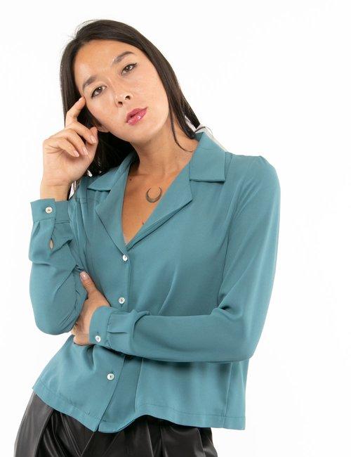 Camicia Vougue a maniche lunghe - Azzurro