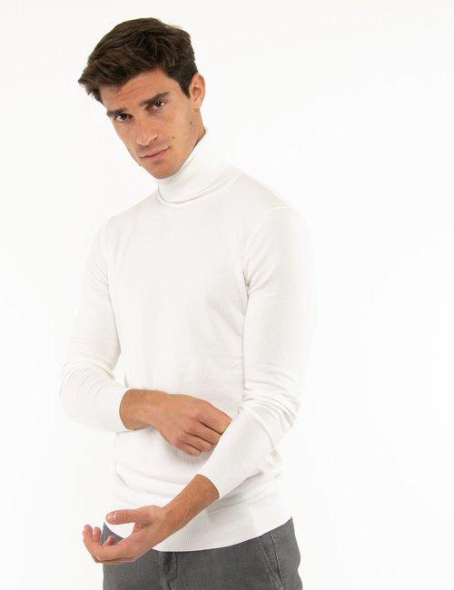 Maglione Smiling London a collo alto - Bianco