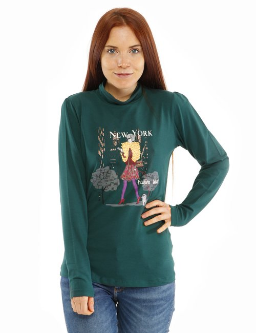 Maglia Yes Zee con stampa - Verde