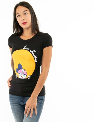 T-shirt Love Moschino con stampa colorata