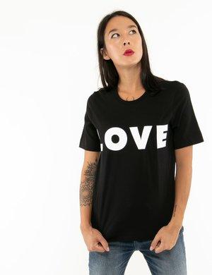 T-shirt Love Moschino con stampa