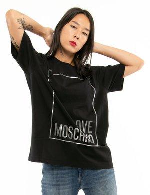 T-shirt Love Moschino con logo in rilievo