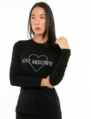 Maglia Love Moschino con strass