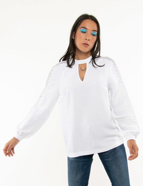 Camicia Guess con lustrini - Bianco
