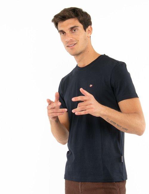 T-shirt Napapijri con logo ricamato - Blu