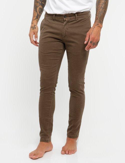 Pantalone Asquani microfantasia - Marrone