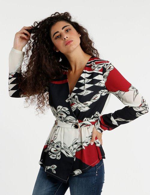 Camicia Fracomina con bottoni decorati - Fantasia