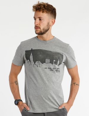 T-shirt Fred Mello stampa New York