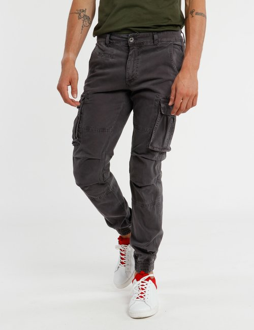 Pantalone Concept83 orlo elasticizzato - Grigio