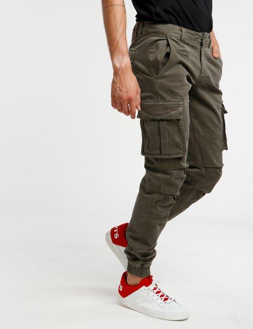 Pantalone Concept83 orlo elasticizzato - Verde