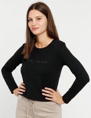 T-shirt Calvin Klein cropped a maniche lunghe