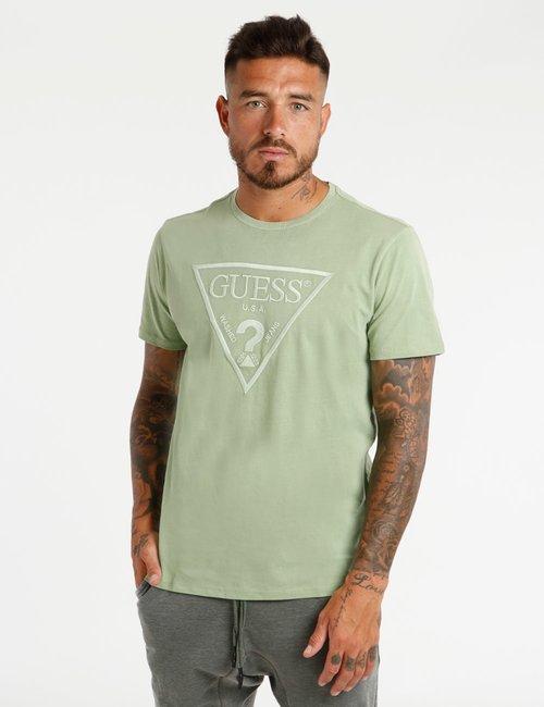 T-shirt Guess con logo ricamato - Verde