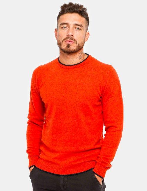Maglione Nick Logan girocollo - Arancione