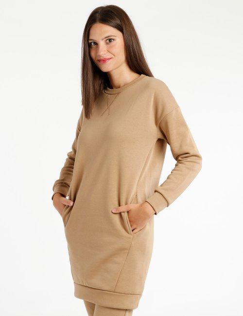 Vestito Concept83 con tasche - Marrone