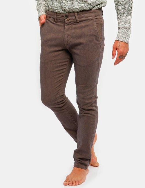 Pantalone Asquani con taschino - Marrone