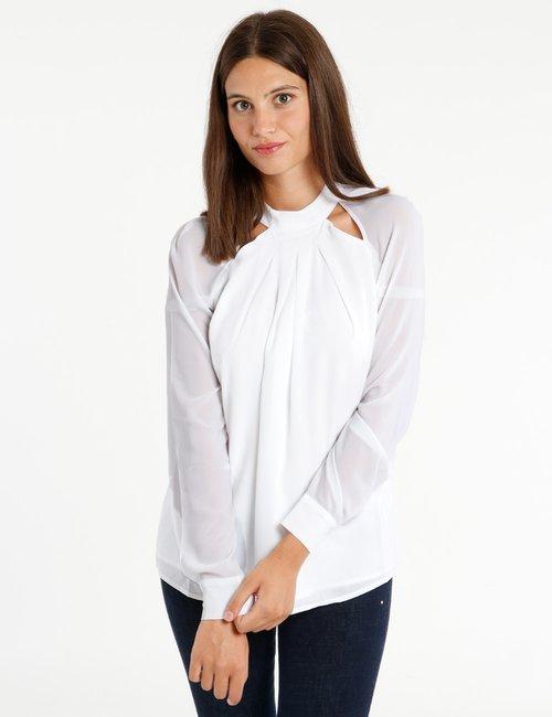 Camicia Guess in poliestere riciclato - Bianco