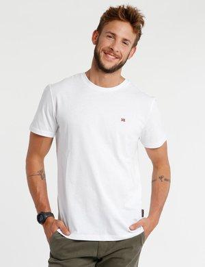 T-shirt Napapijri con logo ricamato a lato