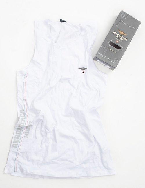 Canotta Aeronautica Militare stretch - white