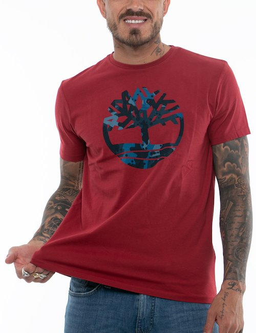 T-shirt Timberland con logo centrale - Blue_Pearl