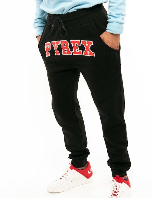 Pantalone Pyrex con logo a contrasto - Nero