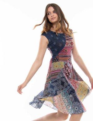 Vestito Desigual con stampa patchwork