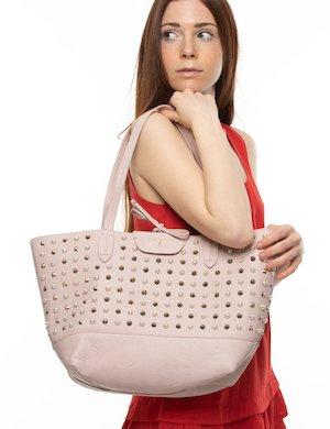 Borsa a spalla Patrizia Pepe con borchie e perle