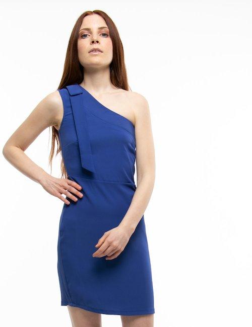 Vestito Yes Zee monospalla - Blu