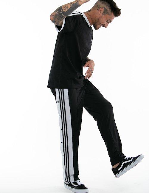Pantalone Adidas con bottoni laterali - Black_Turquoise