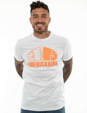 T-shirt Americanino con logo in tinta unita