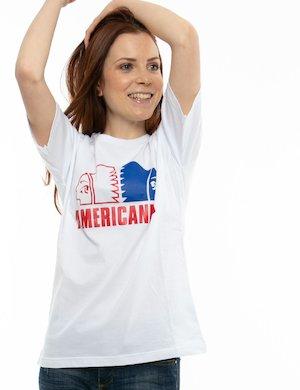 T-shirt Americanino con logo stampato