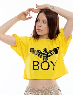 T-shirt crop Boy London