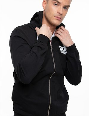 Felpa Boy London con cappuccio e Full-zip