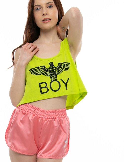 Shorts  Boy London con logo di strass - Salmone