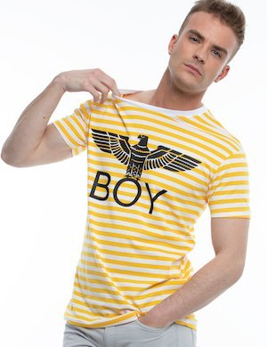 T-shirt Boy London a righe