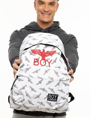Zaino Boy London con stampa logo
