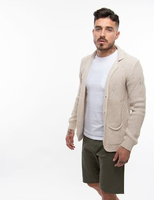 Cardigan Gianni Lupo in misto cotone