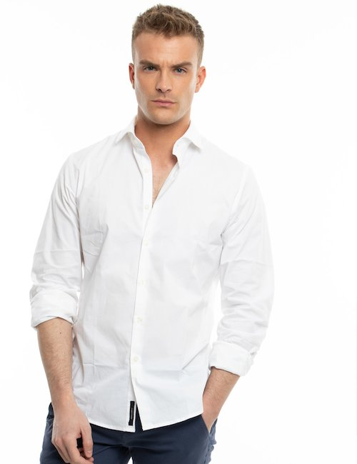 Camicia Yes Zee in cotone - Bianco
