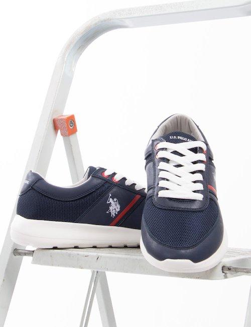 Sneakers U.S. Polo Assn. in ecopelle - Blu