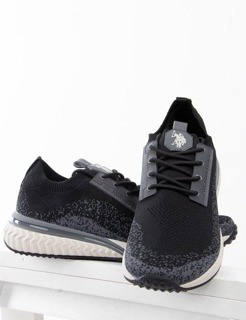Sneakers U.S. Polo Assn. in tessuto a maglia - Nero