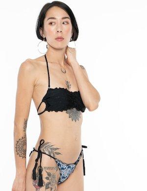 Costume F**K bikini slip in denim