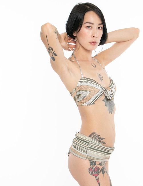 Costume F**K bikini allacciatura centrale - Fantasia