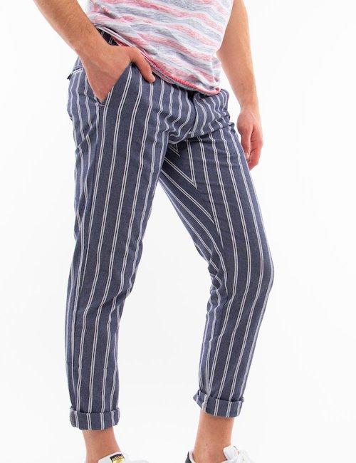 Pantalone Gianni Lupo a righe - Fantasia