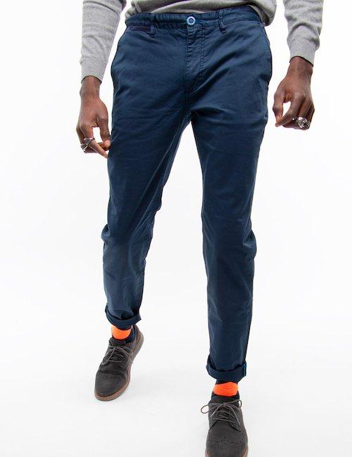 Pantalone Fred Mello chino - Blu