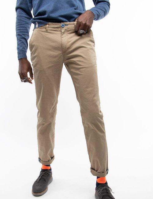 Pantalone Fred Mello chino - Beige_Orange