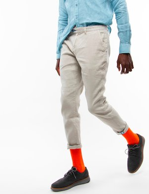 Pantalone Fred Mello in lino