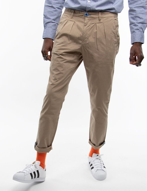 Pantalone Fred Mello chino - Beige